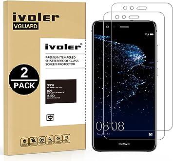 ivoler [2 Unidades] Protector de Pantalla para Huawei P10 Lite, Cristal Vidrio Templado Premium: Amazon.es: Electrónica
