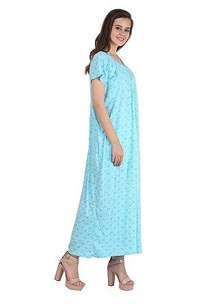 Adome Women s Cotton Printed Cotton Nightwear Gown Nighty Dress for Women  (Sinker Cotton Fabric) a414900bb
