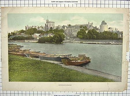 Old antique print colour windsor castle river thames boats london old antique print colour windsor castle river thames boats london 123g218 publicscrutiny Image collections