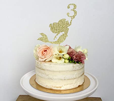 Decoración para tarta de sirena, personalizable, para fiesta ...