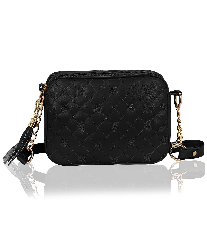Kleio Designer Double Compartment Cross Body Sling Bag for Girls/Women