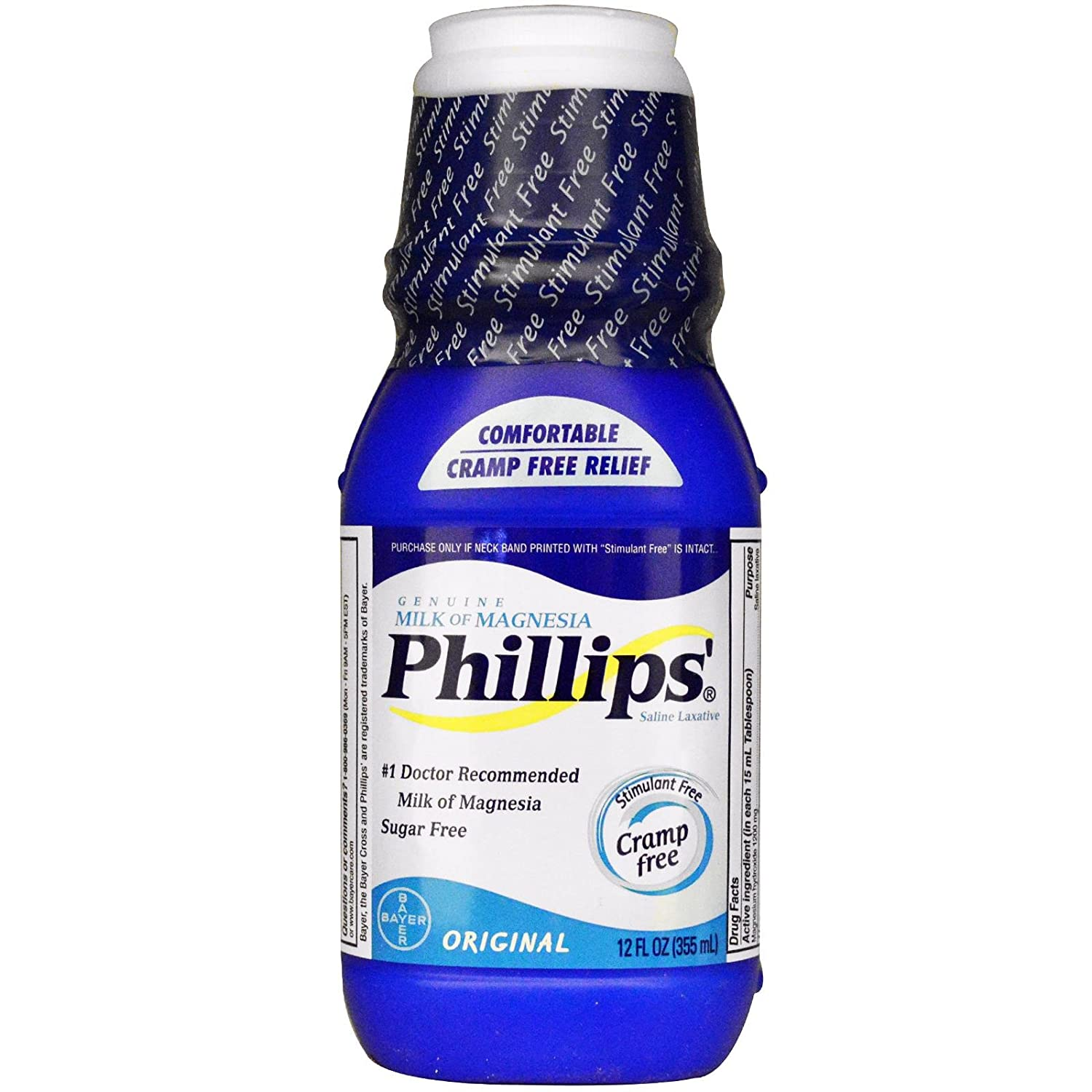 Phillips Milk of Magnesia, Original 12 fl oz (355 ml) (Pack of 1) by Phillips: Amazon.es: Belleza