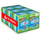 Huggies Little Swimmers Disposable Swim Nappies, Size 3-4 - 72 Pants Total