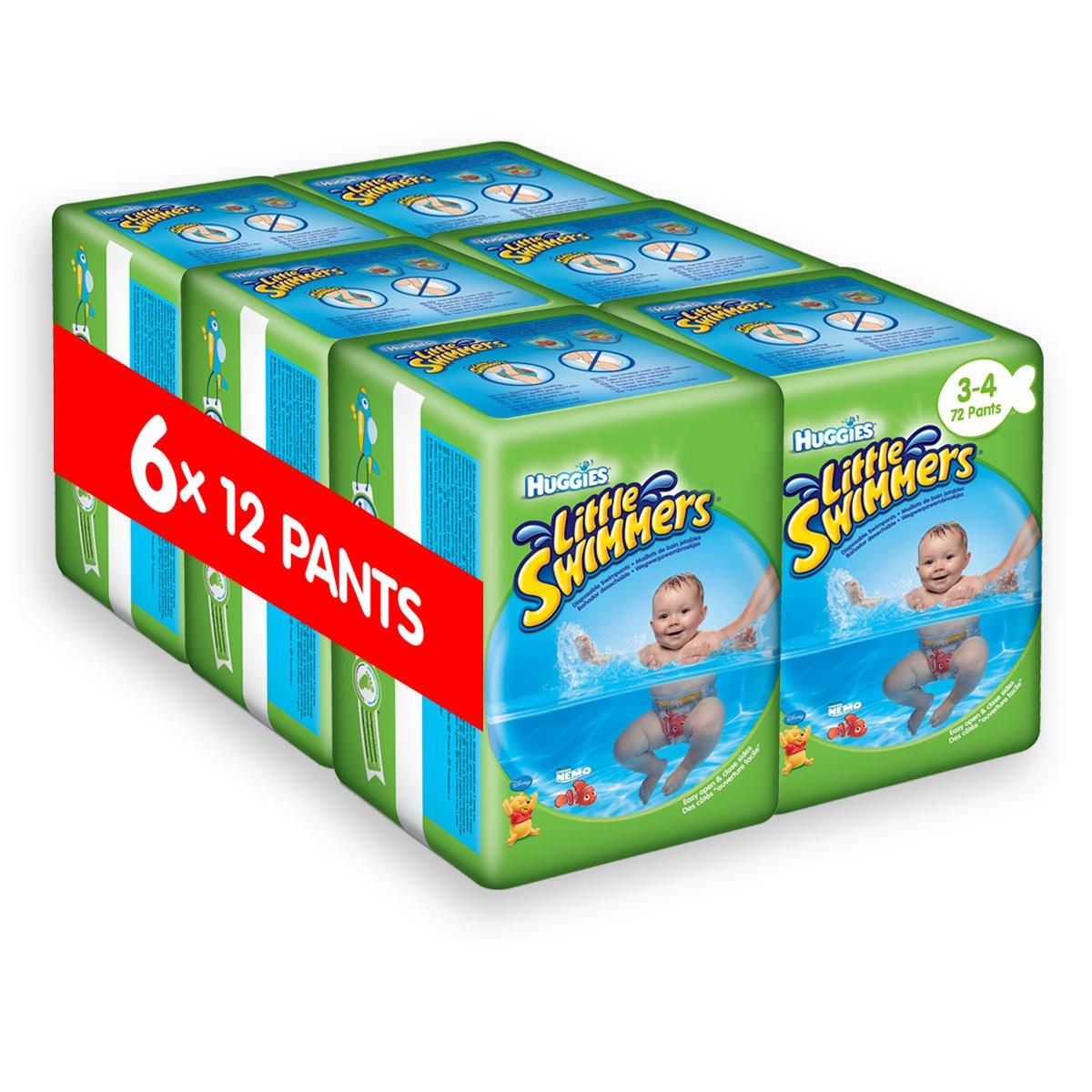 Huggies Little Swimmers Einweg-Schwimmwindeln, Größe 3-4 – 72 Hose Total Kimberly Clark 2920951