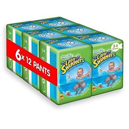 Huggies Little Swimmers desechables pañales de nadar, tamaño 3 – 4 – 72 pantalones total