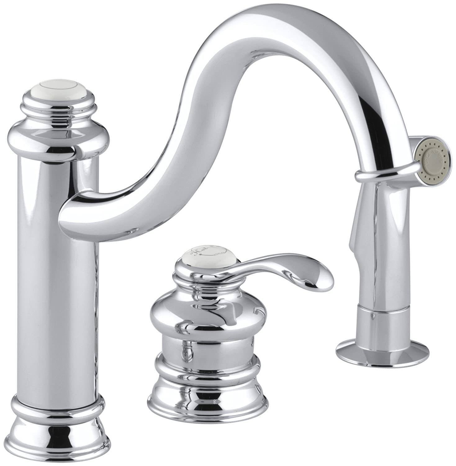 KOHLER K 12185 BN Fairfax Single Control Remote Valve Kitchen Sink Faucet,  Vibrant Brushed Nickel   Touch On Kitchen Sink Faucets   Amazon.com