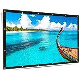 ELEPHAS 100インチ スクリーン 16:9 折り畳み可 プロジェクター投影用 持ち運び ホームシアター スクリーン 軽便 会議 教室 屋外屋内用 映画 スクリーン
