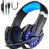 LESHP Auriculares Gaming Cascos Gaming Auriculares Juegos Para PS4 / PC/Xbox One/Switch/Tableta/Celular- Headset Con…
