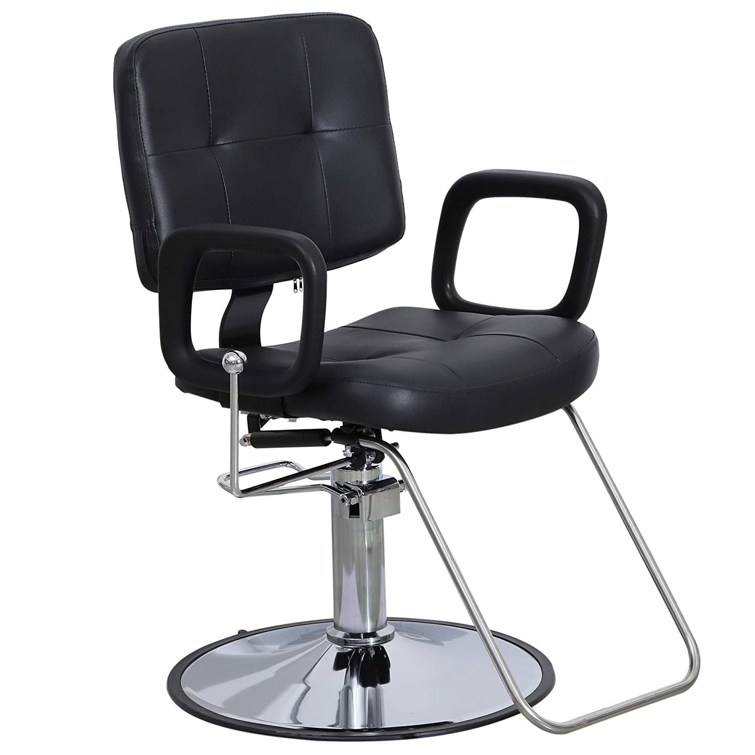 Outstanding Barberpub Reclining Hydraulic Barber Chair Salon Beauty Spa Styling Beauty Chair Black 2058 Short Links Chair Design For Home Short Linksinfo