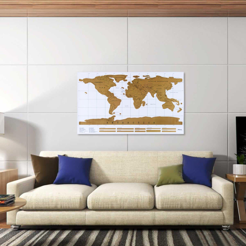 Top Carte à gratter Premium de Mitavo avec scratcher ! Carte du monde  MX39
