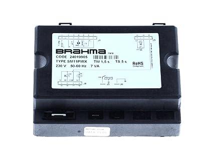 Zanolli ELET0134 BRASHMA SM11PMIX - Horno de gas eléctrico (230 V ...
