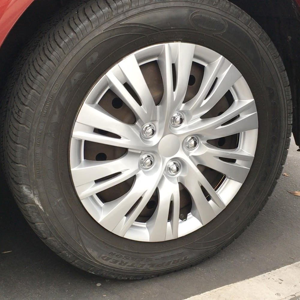 Silver 4 Pieces BDK K1037 16 Toyota Camry Style Hubcaps 16 Wheel Covers-2012 2013 Model Replica Cover