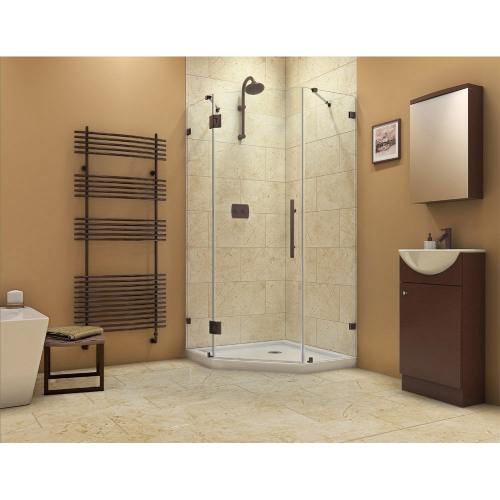 DreamLine Prism Lux 38 in. D x 38 in. W, Frameless Hinged Shower ...