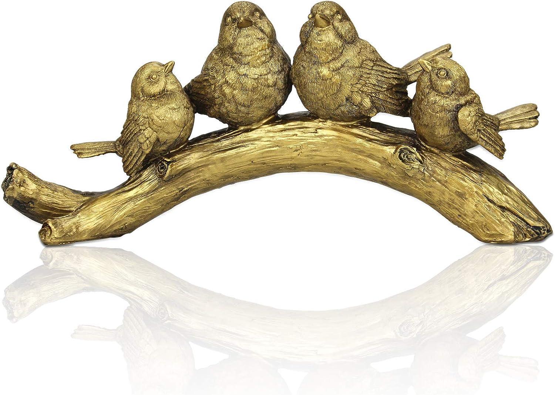 ALIWINER Bronze Polyresin Bird Sculptures Resin Handicrafts Personalized Gift Home Decoration