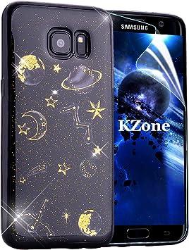 OKZone Funda Samsung Galaxy S7 Edge, [Serie Noche Estrellada] Cárcasa Brilla Glitter Brillante TPU Silicona Parachoque Teléfono Smartphone Funda Móvil Case para Samsung Galaxy S7 Edge: Amazon.es: Electrónica
