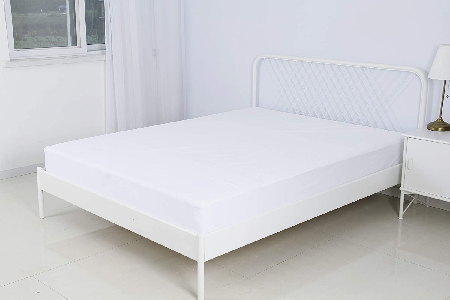 Umi Fitted Single Size 90x190//200cm Essentials Waterproof Mattress Protector Terry Towelling Cover