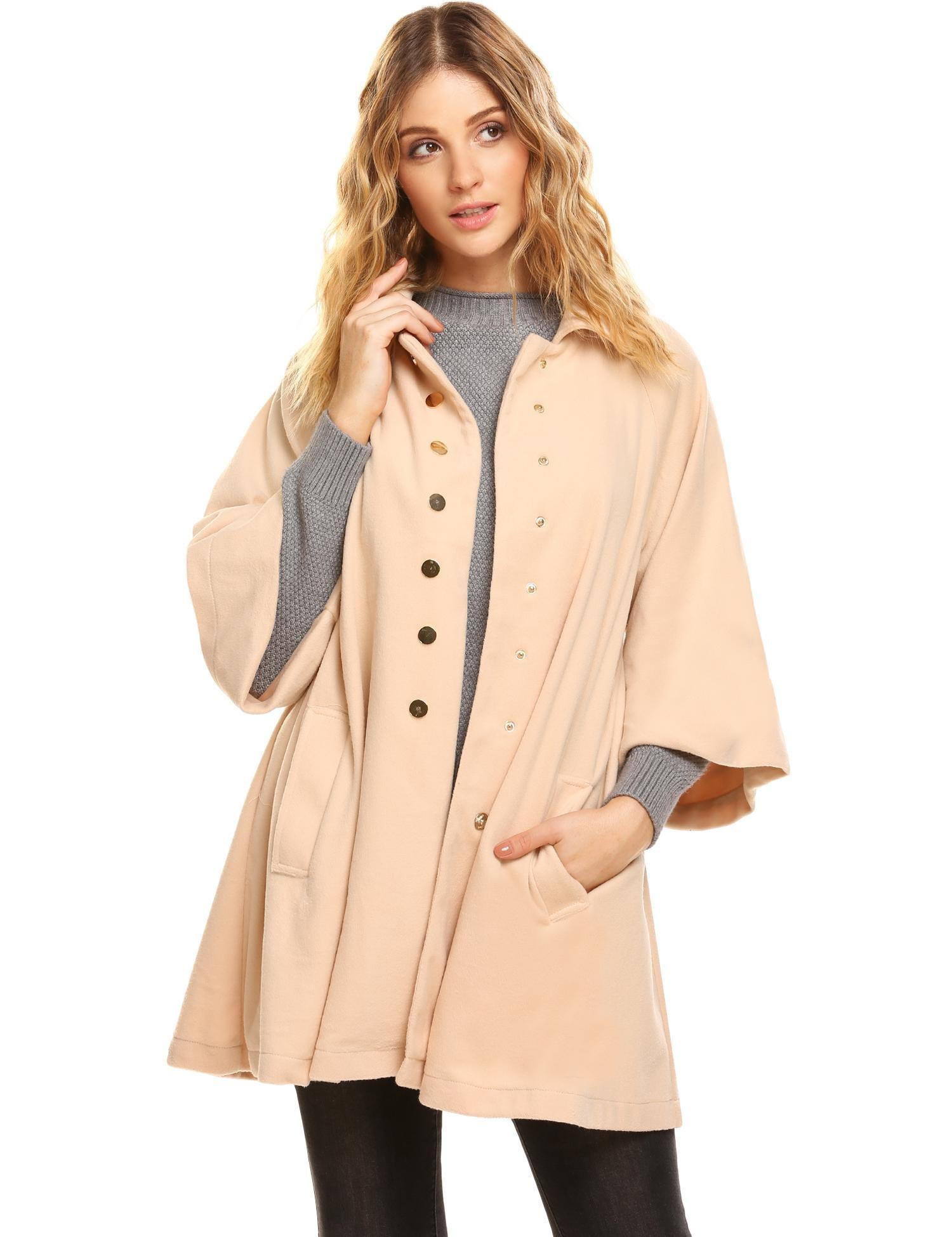 Corgy Women's Plus Size Jacket Swing Style Coat For Winter