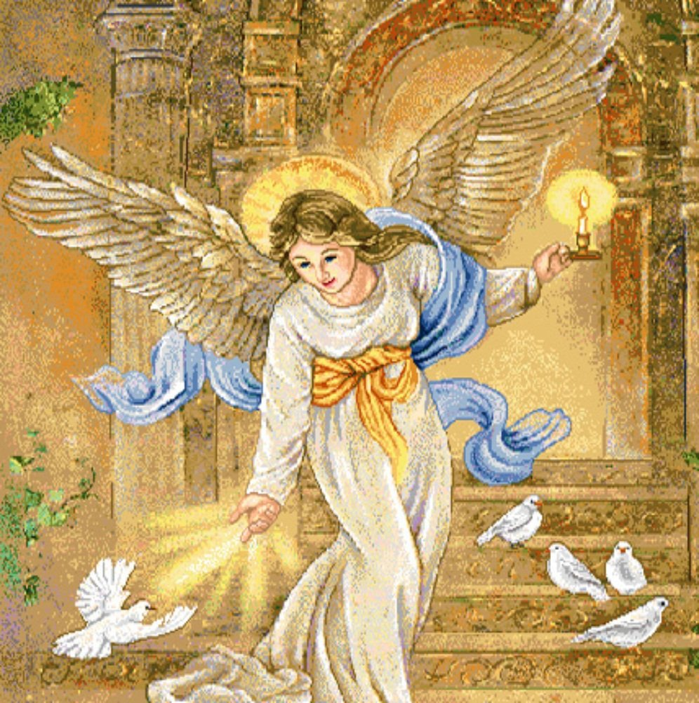 Amazon.com: Manual Woodworkers & Weavers Angel of Light Tapestry ...