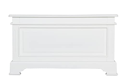 Great Chateau French White Painted Furniture Blanket Box Storage Chest Trunk