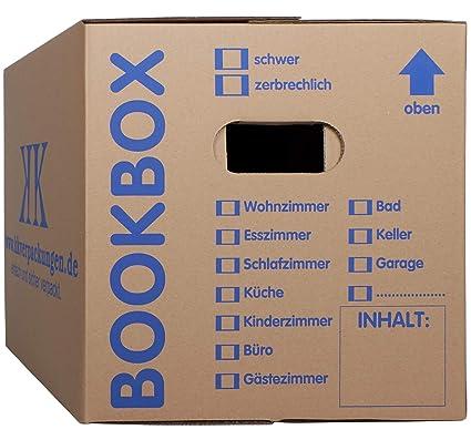 30 Bücherkartons 2 wellig in Profi Qualität Bookbox