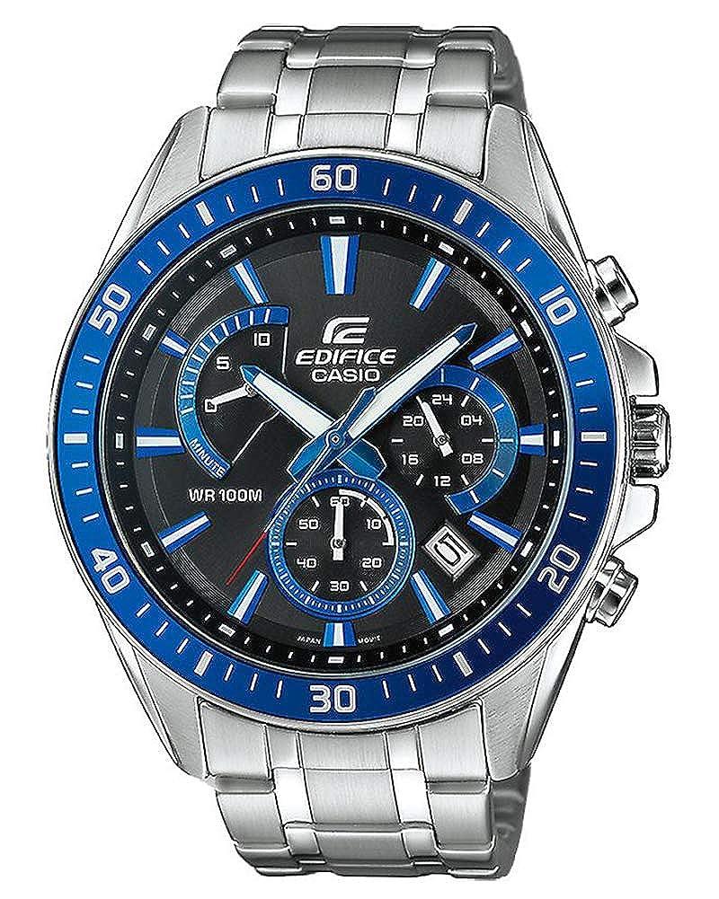 5a8555736170 Casio Reloj Analogico para Hombre de Cuarzo con Correa en Acero Inoxidable  EFR-552D-1A2VUEF  Amazon.es  Relojes