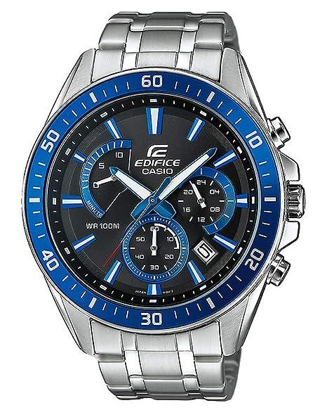 a9c1cedde255 Casio Reloj Analogico para Hombre de Cuarzo con Correa en Acero Inoxidable  EFR-552D-1A2VUEF  Amazon.es  Relojes