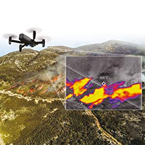 Drohne mit Wärmebildkamera und Restlichtkamera