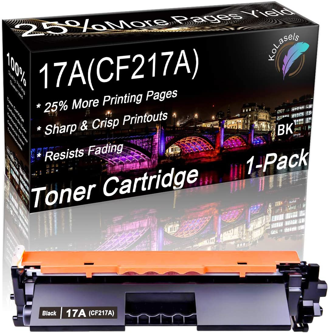 Kolasels Compatible High Yield Toner Cartridge (with Chip) Replacement for HP 17A CF217A Toner to use with Laserjet Pro MFP M130fw M130nw M130fn M130a M102w M102a M130 M102 Printer (1Pack, Black)