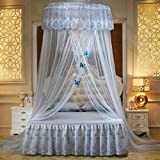 WLHOPE Mosquito Net Canopy Ceiling Stylish Lace