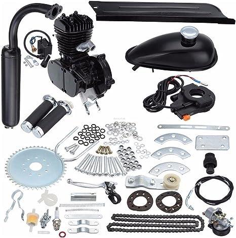 JDMSPEED - Kit de Motor de 2 Tiempos para Bicicleta motorizada de Gasolina y Gas, Color Negro (50 CC): Amazon.es: Deportes y aire libre