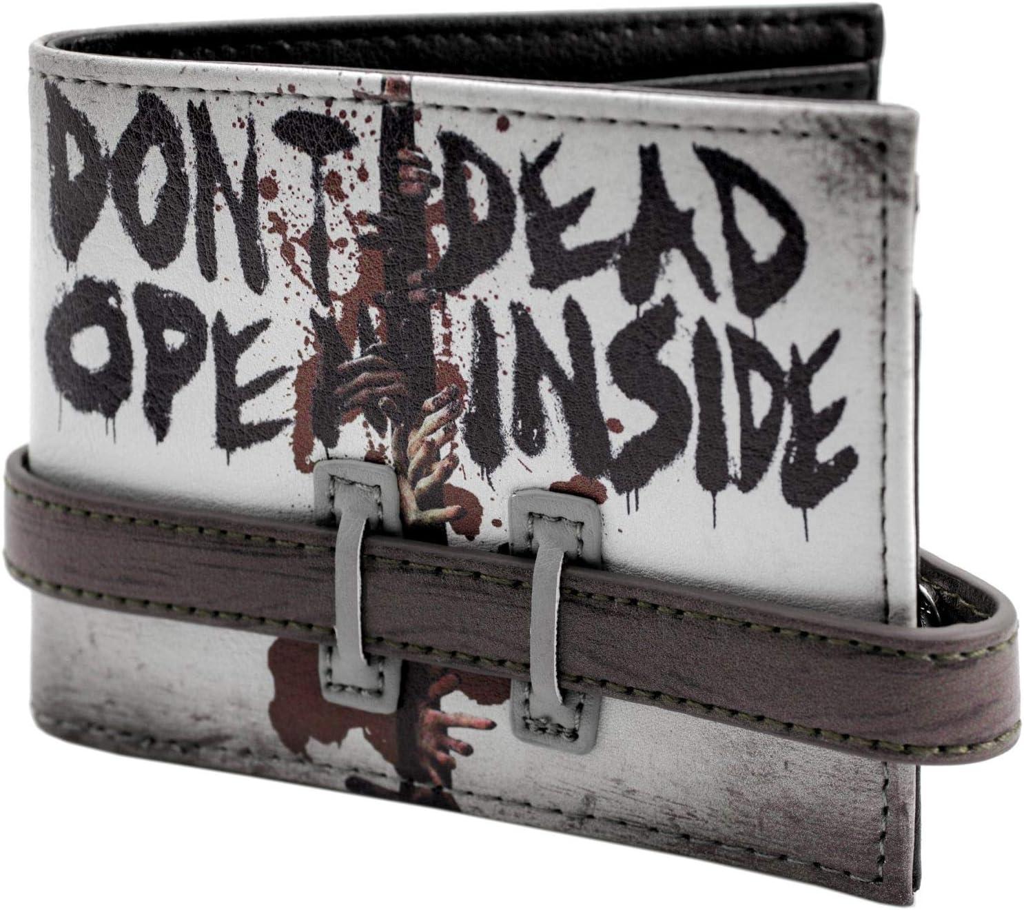 Walking Dead Ne pas ouvrir la sangle boutonn/ée gris Portefeuille
