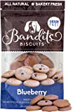 Bandit's Biscuits Natural Grain-Free Crunchy Dog Treats, 10 oz, Blueberry