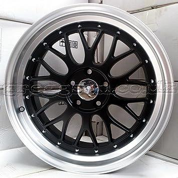 2 x ruedas de aleación BBS lm estilo 19 x 9,5 negro mate polaco