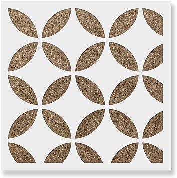 and Walls Laser-Cut Reusable Floor Stencil /& Backsplash Tile Stencils for Home Decor Japanese Tile Stencil Furniture