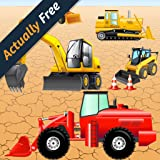 Digger Puzzles for Toddlers and Kids : play with construction vehicles ! Educational Puzzle Games - FULL game (Actually Free)