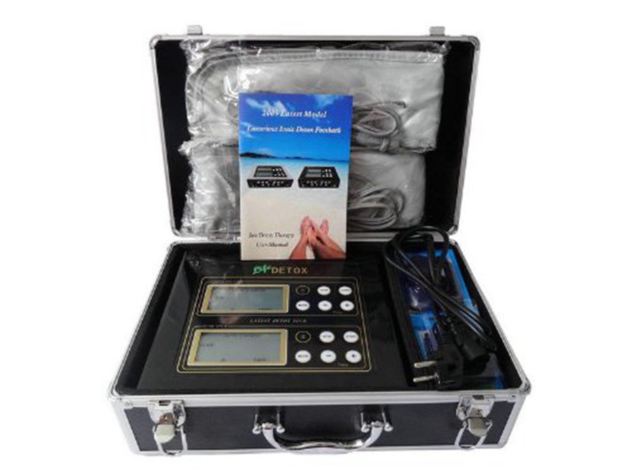 Detox Ion Ionic Aqua Foot Bath Spa Cleanse Machine Home Digital LCD Display Black Box (dual Style)