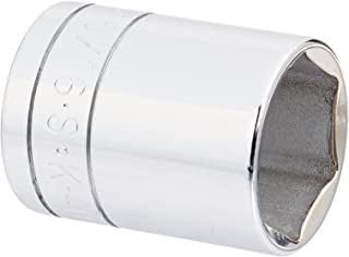 product image for SK Professional Tools 41130 1/2 in. Drive 6-Point Fractional Standard Chrome Socket – 15/16 in. old Forged Steel Socket with SuperKrome Finish, Made in USA