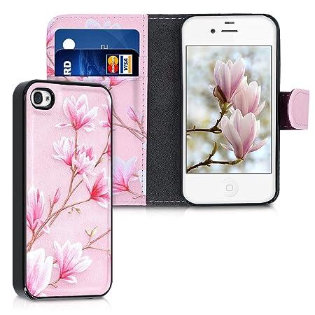kwmobile Apple iPhone 4 / 4S Hülle - Kunstleder Flip Case für Apple iPhone 4 / 4S mit herausnehmbarer Innenhülle