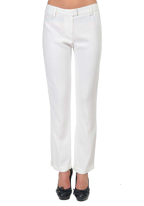 Just Cavalli White Women's Casual Pants US 4 IT 40