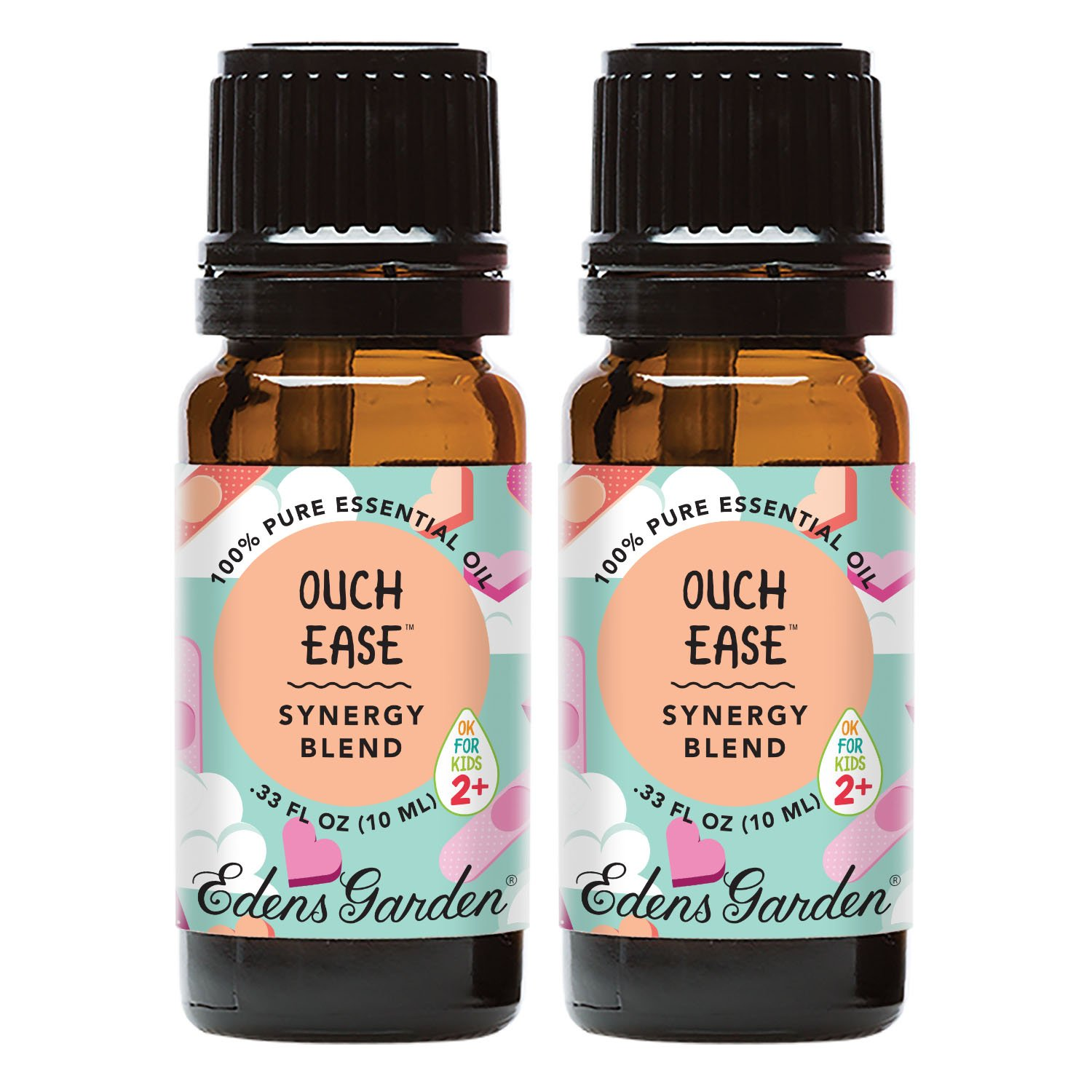 Edens Garden Ouch Ease Essential Oil Synergy Blend, 100% Pure Therapeutic Grade (Highest Quality Aromatherapy Oils), 10 ml Value Pack