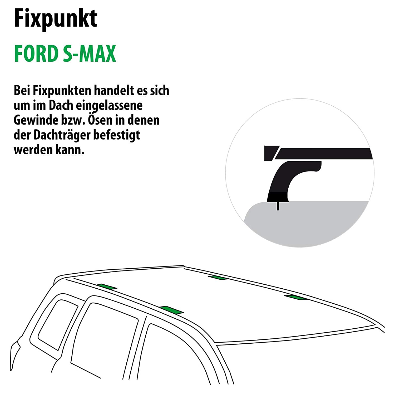 Rameder Komplettsatz 118795-05542-1 Dachtr/äger Tema f/ür Ford S-MAX