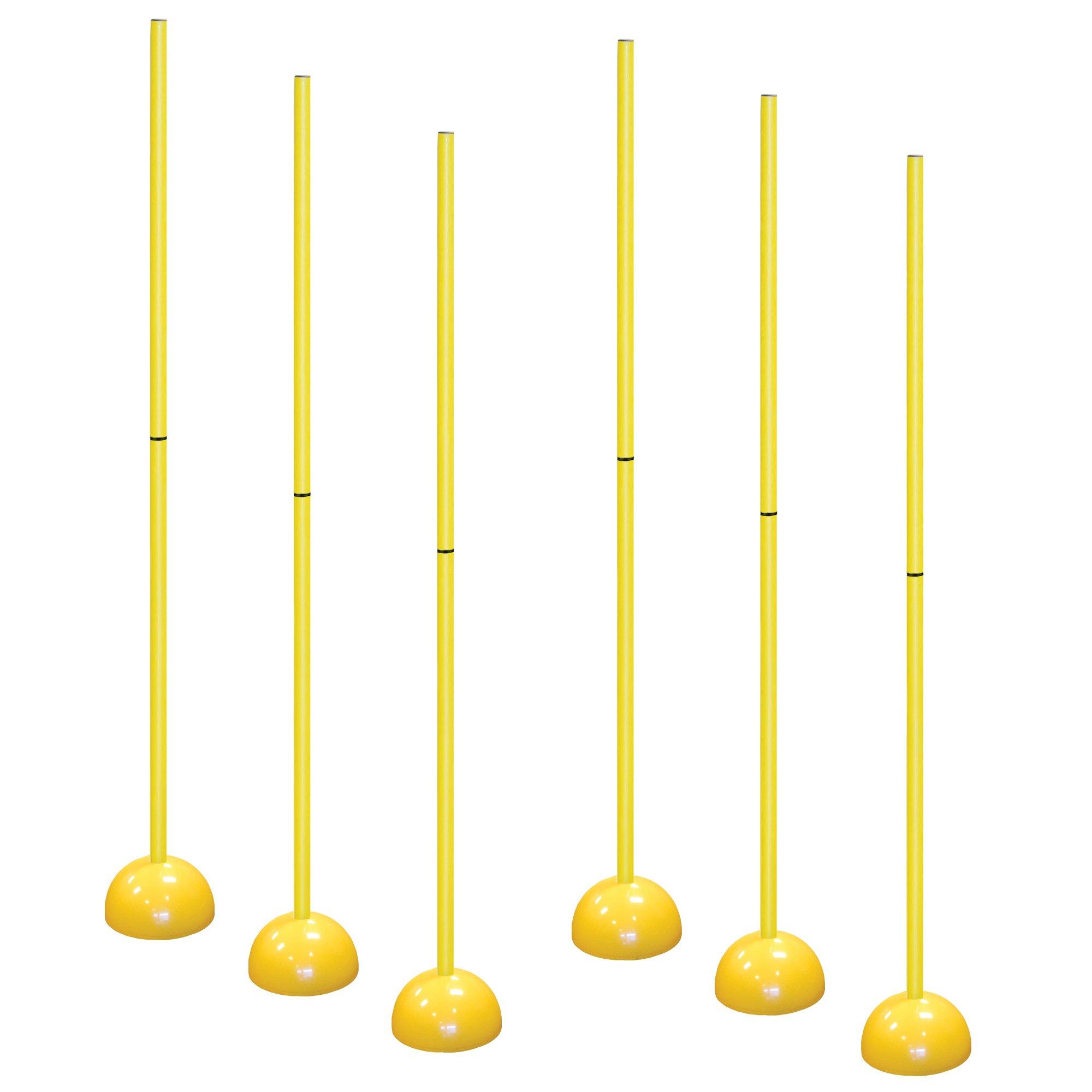 AGORA Portable Indoor/Outdoor Coaching Sticks - Set of 6 by AGORA