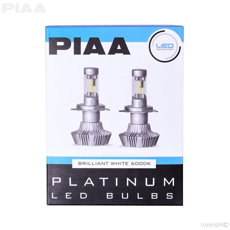 White 6000K PIAA 26-17304 H4 9003 // HB2 25W-2 Yr Warranty Platinum LED Bulb Kit-4000Lm