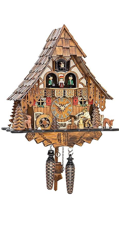 Amazon.com: Reloj de cuco de cuarzo Casa de la selva negra ...