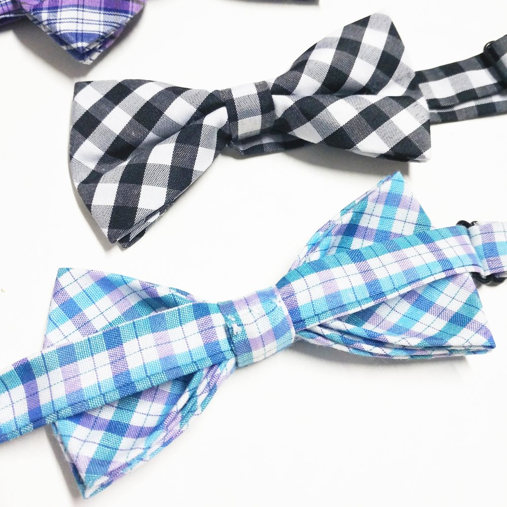 PET SHOW Plaid Dog Bow Ties Adjustable Collar Bowties for Small Dogs Puppy Cats Party Pet Collar Neckties Grooming Accessories Pack of 8 by PET SHOW (Image #5)