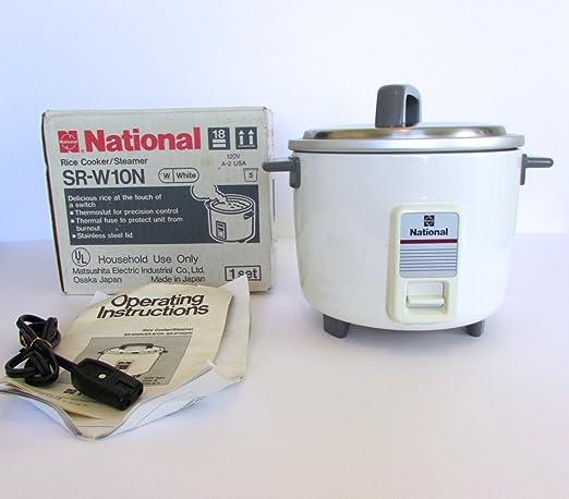 National Rice Cooker SR-W10N - Vaporizador para arroz (5 tazas): Amazon.es: Hogar