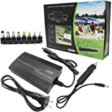 100W Laptop Charger Notebook Charger AC/DC Adapter 110-240V 1.3 Max DC 12 (9-15V) Output: 12V,15V,16V,18V,19V,20V,22V,24V ,5A Max, USB 5V 1A ,Power Supply With USB Port 8 DC Connector for Most Laptop