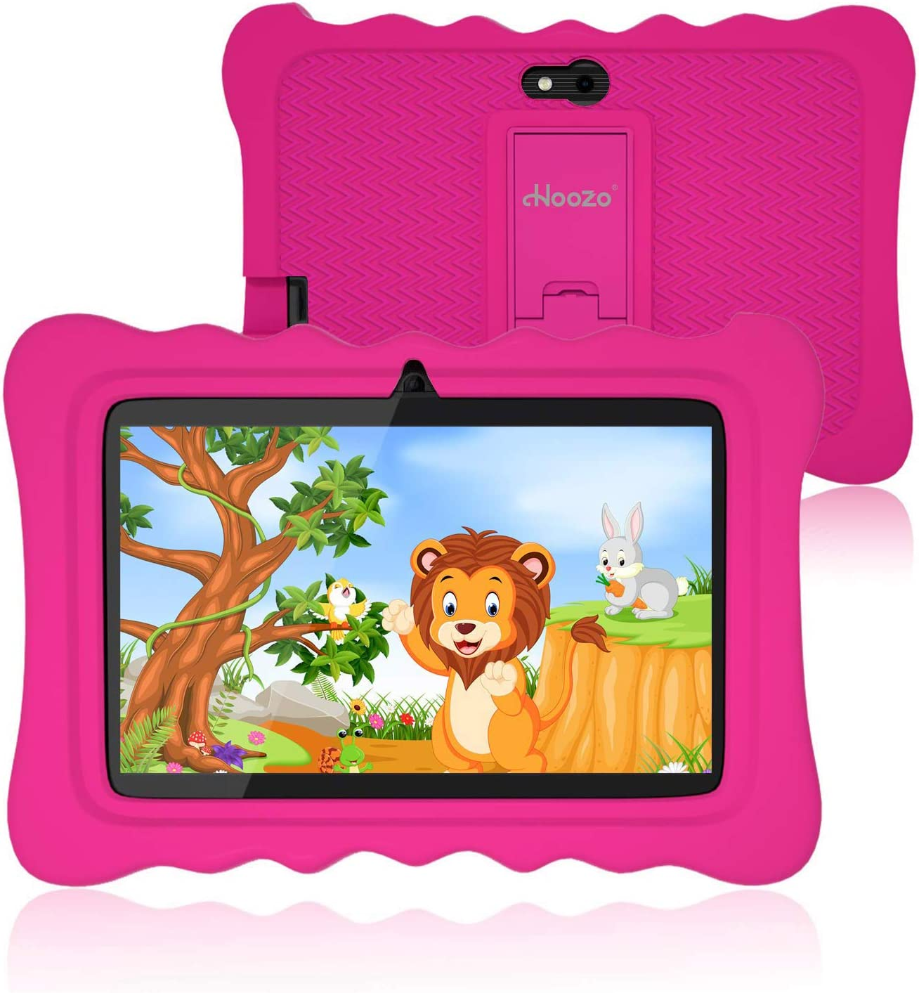 Kids Tablet 7 Inch, Andriod 9.0 Tablet for Kids, 2GB +16GB, Kids Mode Pre-Installed, Educational Apps, Games, Camera and WiFi (Kids-Proof Case Pink)