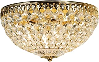 product image for Schonbek 1564-20A Swarovski Lighting Petit Crystal Flush Mount Lighting Fixture, Gold