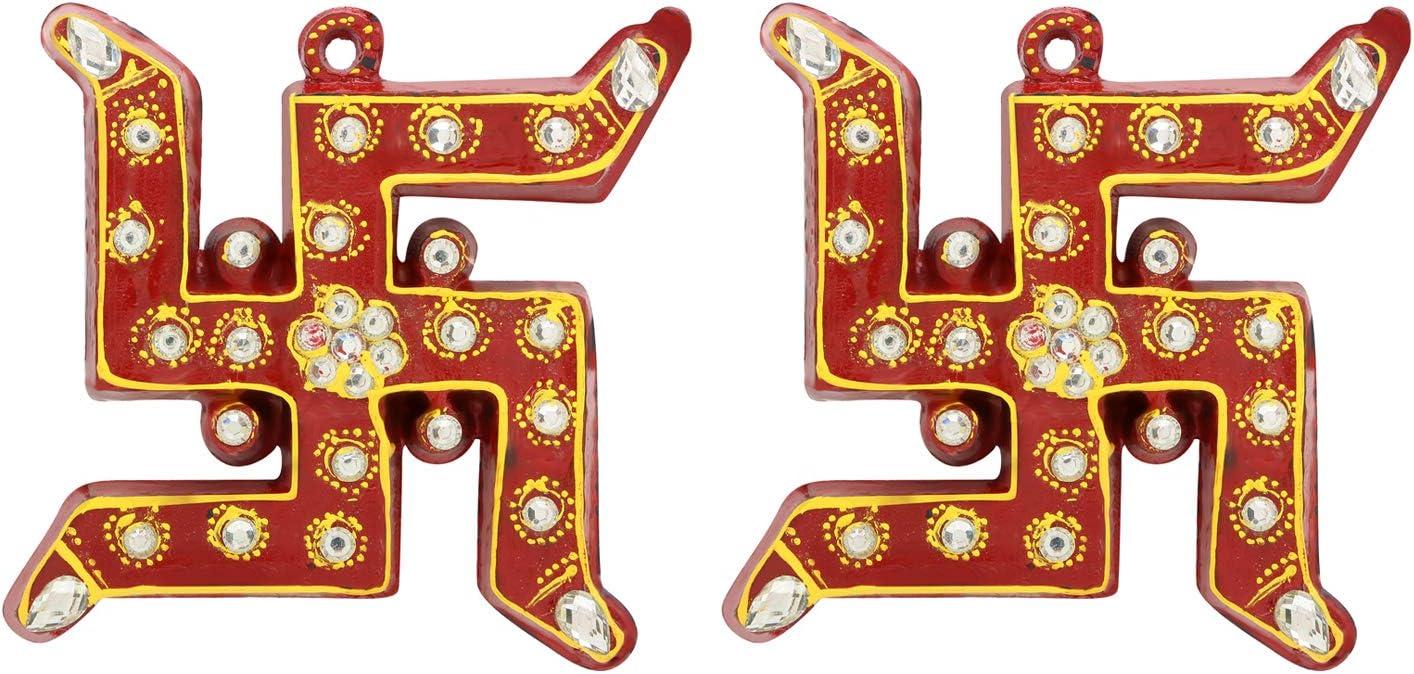 Insync India Swastik Sticker Diwali Decoration Rangoli/Home Décor//Gift for Home/Interior Handcrafted/Floor Stickers/Wall Stickers/Wall Decorations/Pooja Tample Mandir Decor/Lucky Charm